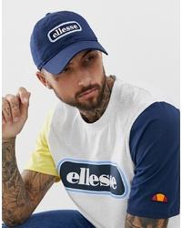 Мужская темно-синяя бейсболка с принтом от Ellesse