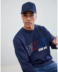 Мужская темно-синяя бейсболка от Tommy Hilfiger