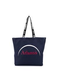 Мужская темно-синяя большая сумка из плотной ткани с принтом от Perks And Mini