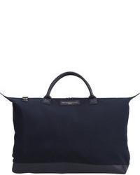 Темно-синяя большая сумка из плотной ткани