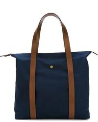 Мужская темно-синяя большая сумка из плотной ткани
