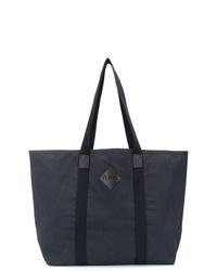 Мужская темно-синяя большая сумка из плотной ткани от A.P.C.