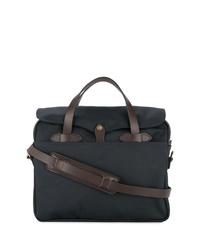 Мужская темно-синяя большая сумка из плотной ткани от Filson