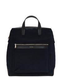 Мужская темно-синяя большая сумка из плотной ткани от Paul Smith