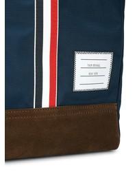Мужская темно-синяя большая сумка из плотной ткани от Thom Browne