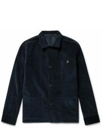 Темно-синяя вельветовая джинсовая куртка