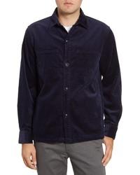 Темно-синяя вельветовая куртка-рубашка