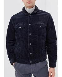 Мужская темно-синяя вельветовая куртка-рубашка от Gap
