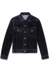 Мужская темно-синяя вельветовая куртка-рубашка от Ralph Lauren Purple Label