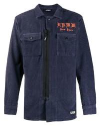 Мужская темно-синяя вельветовая куртка-рубашка от U.P.W.W.