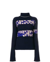 Женская темно-синяя водолазка с принтом от Calvin Klein 205W39nyc