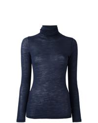 Женская темно-синяя водолазка от Zanone