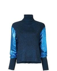 Женская темно-синяя вязаная водолазка от Cédric Charlier