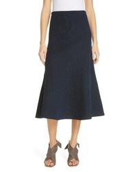 Темно-синяя вязаная юбка-миди