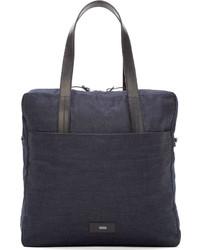 Темно-синяя джинсовая большая сумка