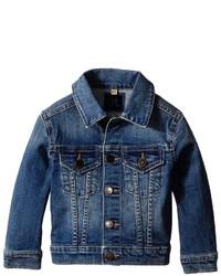 Темно-синяя джинсовая куртка