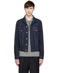 897c76d68be Купить мужскую темно-синюю джинсовую куртку Acne Studios - модные ...