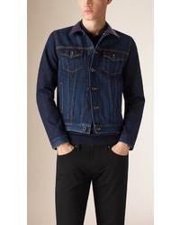 Мужская темно-синяя джинсовая куртка от Burberry