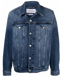 Мужская темно-синяя джинсовая куртка от Calvin Klein Jeans