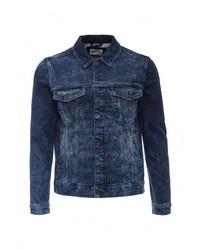 Мужская темно-синяя джинсовая куртка от Celio