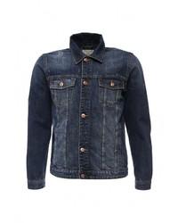 Мужская темно-синяя джинсовая куртка от Cortefiel