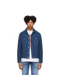 Мужская темно-синяя джинсовая куртка от Diesel