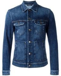 Мужская темно-синяя джинсовая куртка от Dolce & Gabbana