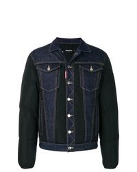 Мужская темно-синяя джинсовая куртка от DSQUARED2