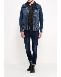Мужская темно-синяя джинсовая куртка от G Star