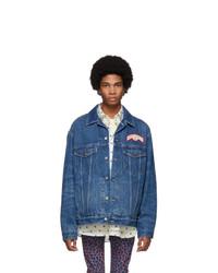 Мужская темно-синяя джинсовая куртка от Gucci