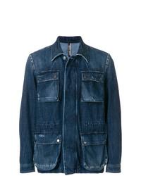 Мужская темно-синяя джинсовая куртка от Jacob Cohen