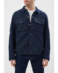 Мужская темно-синяя джинсовая куртка от Levi's