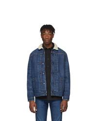 Мужская темно-синяя джинсовая куртка от Levis Made and Crafted