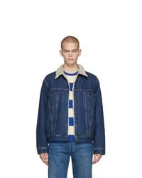 Мужская темно-синяя джинсовая куртка от Levis Vintage Clothing