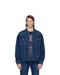 Мужская темно-синяя джинсовая куртка от McQ Alexander McQueen