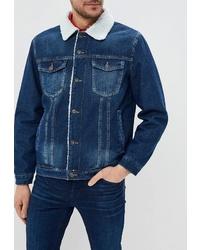 Мужская темно-синяя джинсовая куртка от Modis