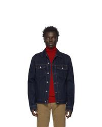 Мужская темно-синяя джинсовая куртка от Officine Generale