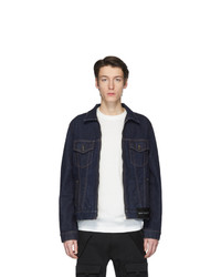 Мужская темно-синяя джинсовая куртка от Palm Angels