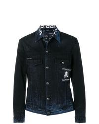 Мужская темно-синяя джинсовая куртка от Philipp Plein