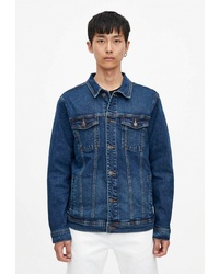 Мужская темно-синяя джинсовая куртка от Pull&Bear