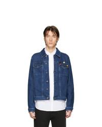 Мужская темно-синяя джинсовая куртка от Raf Simons