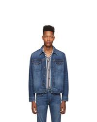 Мужская темно-синяя джинсовая куртка от Rag and Bone