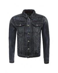 Мужская темно-синяя джинсовая куртка от Sixth June