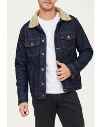 Мужская темно-синяя джинсовая куртка от WHITNEY