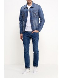 Мужская темно-синяя джинсовая куртка от Wrangler
