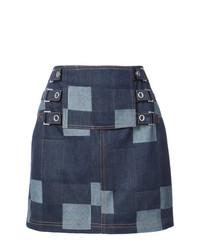 Темно-синяя джинсовая мини-юбка от Opening Ceremony