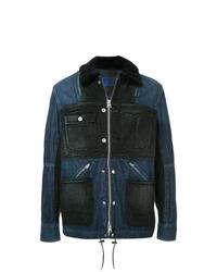 Темно-синяя джинсовая полевая куртка