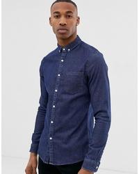 Мужская темно-синяя джинсовая рубашка от ASOS DESIGN