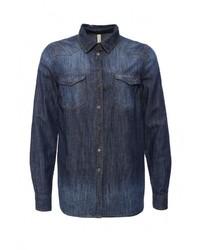 Женская темно-синяя джинсовая рубашка от Bestia