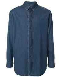 Мужская темно-синяя джинсовая рубашка от Brioni